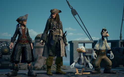 Donald, Goofy und Jack Sparrow (Kingdom Hearts 3)