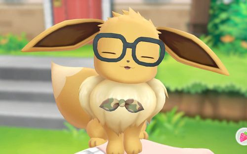 Evoli mit Brille (Pokemon: Let's Go)