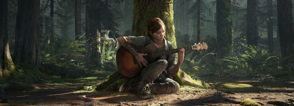 Artwork; Ellie mit Gitarre (The Last of Us Part II)